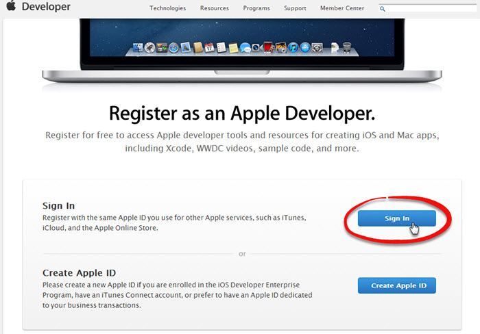 Application publishing procedure in the AppStore